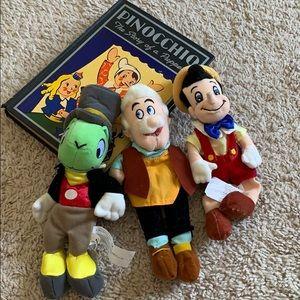 Vintage Disney Pinocchio Book & Doll Set